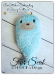 Fur Seal- ITH Softie Embroidery Design - 4x4 5x7 6x10 8x12