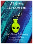 Alien ITH Snap Tab - 4x4 Embroidery Design